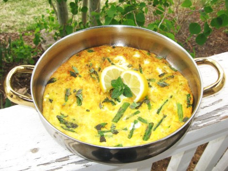 Asparagus and Goat Cheese Fritatta
