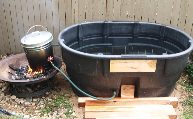 DIY Fire Heated Hot Tub Wooden PDF Wood Playsets