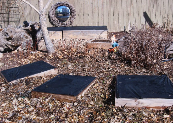 Warming raised garden beds