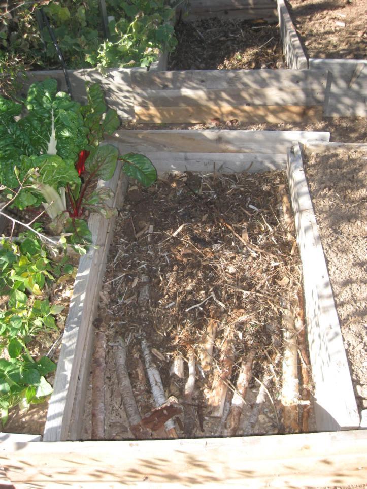 Hugelkultur Raised Garden Bed