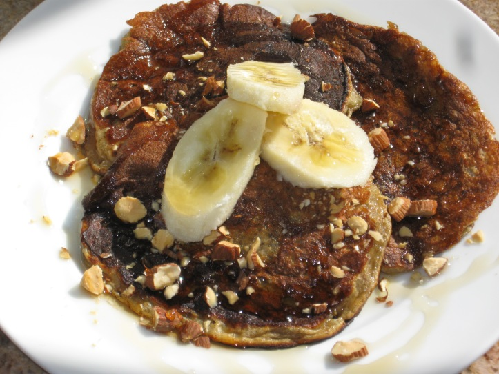 Gluten-Free Banana Powered Pancakes